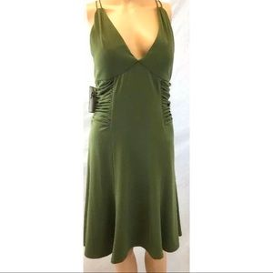 Jovani Spaghetti Strap Dress Green